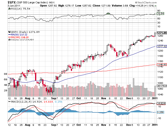 S&P price outlook 2011